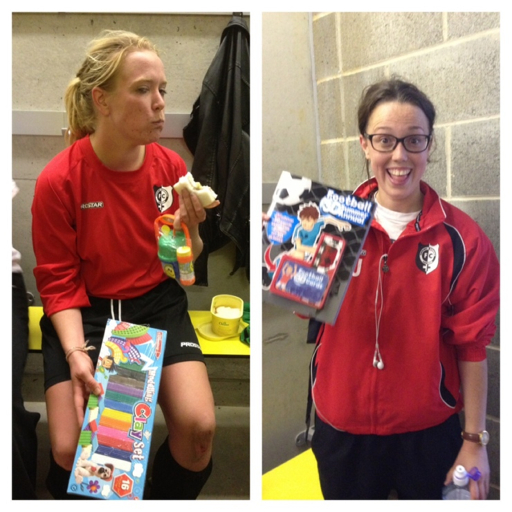 Women of the Man – Helen King (left) Manager's player - Fiona Jackson (right) Sunday 8th September Hackney WFC vs AFC Phoenix Other contenders for WotM were: Aimee P (4), Fiona (2), Viv (2) and Nieve (1)