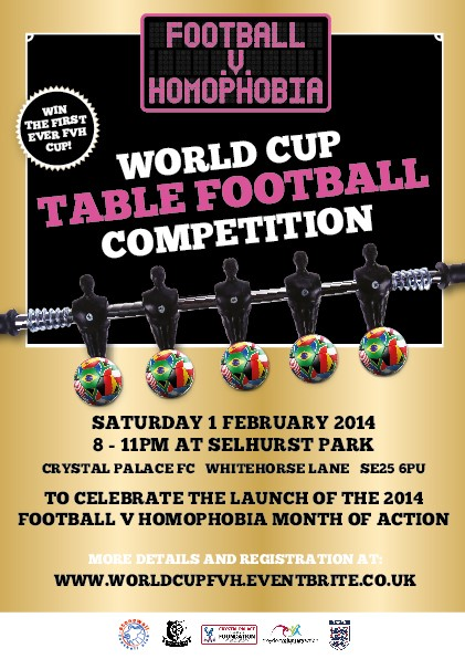 FOOTBALL V HOMOPHOBIA OFFICIAL LAUNCH 2014